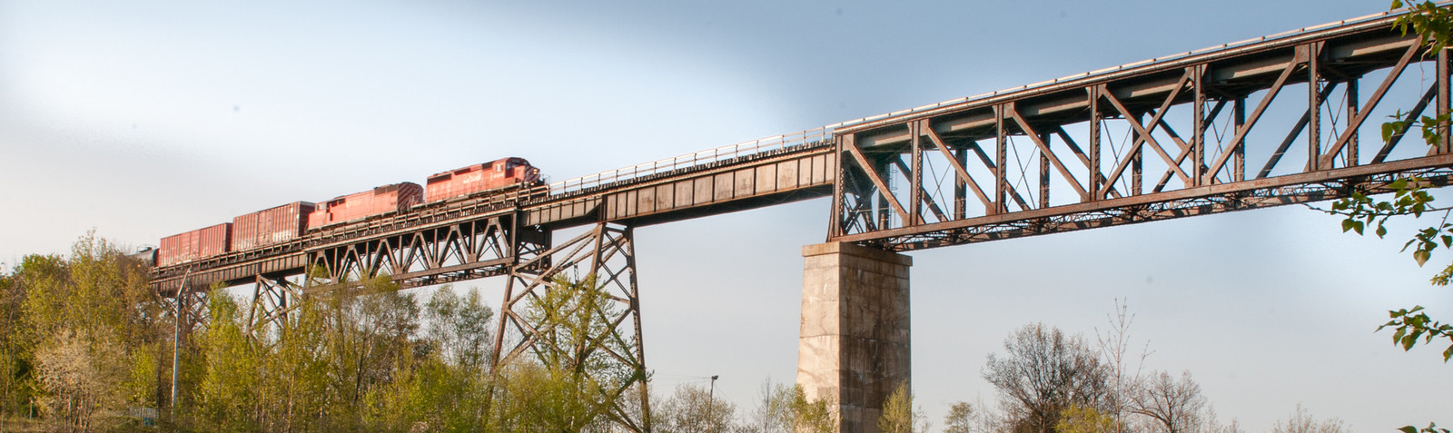 Train on Trestle Bridge
