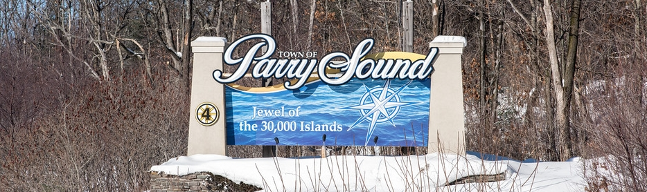 Parry Sound Highway Signage